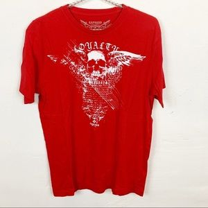 Express l Red Skull Royalty Graphic T-shirt